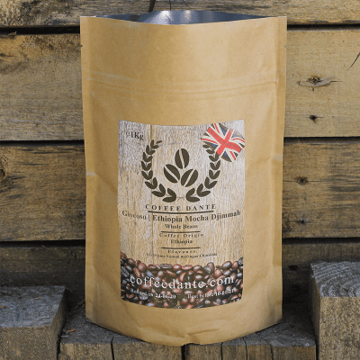Giocoso   Ethiopia Mocha Djimmah Coffee Beans Whole or Ground
